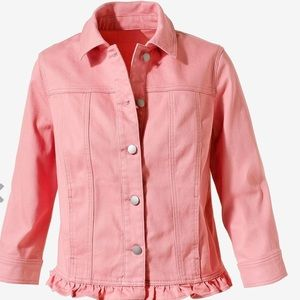 NWT❣️Chico's Ruffle Denim Jacket